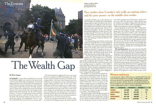 Article Preview: The Wealth Gap, August 2000 | Maclean's