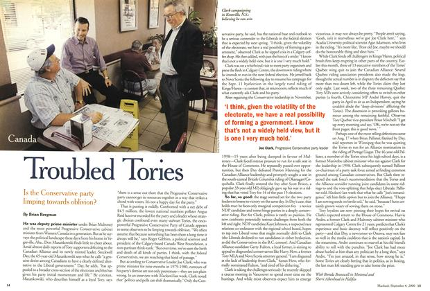 Article Preview: Troubled Tories, September 2000 | Maclean's