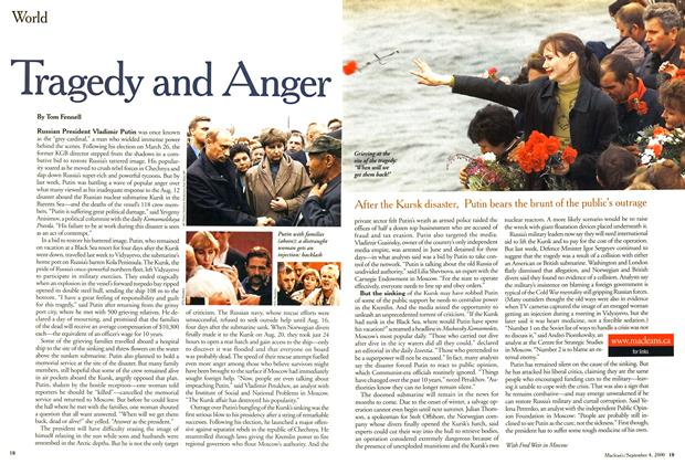 Article Preview: Tragedy and Anger, September 2000 | Maclean's