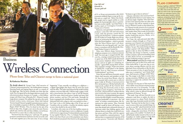 Article Preview: Wireless Connection, September 2000 | Maclean's