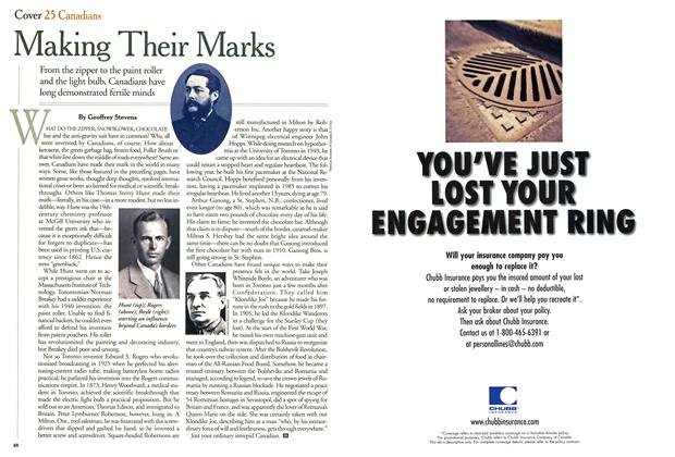 Article Preview: Making Their Marks, September 2000 | Maclean's