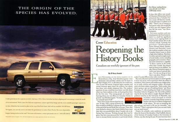 Article Preview: Reopening the History Books, September 2000 | Maclean's
