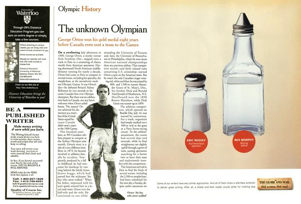 Article Preview: The unknown Olympian, September 2000 | Maclean's