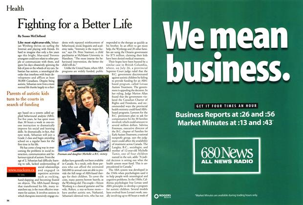 Article Preview: Fighting for a Better Life, September 2000 | Maclean's