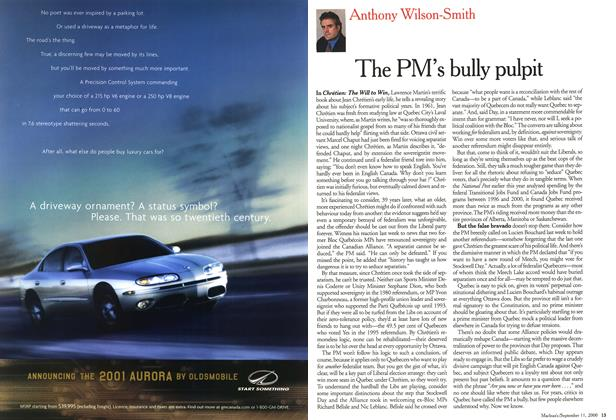 Article Preview: The PM's bully pulpit, September 11,2000 2000 | Maclean's