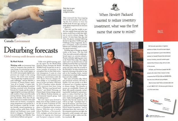 Article Preview: Disturbing forecasts, September 11,2000 2000 | Maclean's