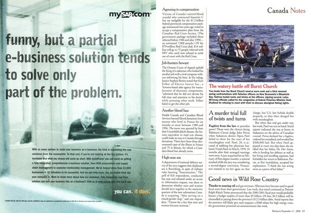 Article Preview: Canada Notes, September 11,2000 2000 | Maclean's