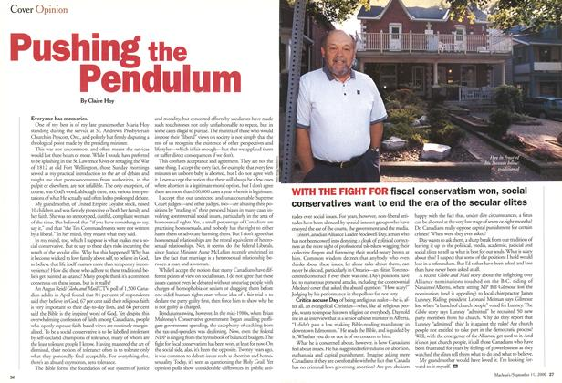 Article Preview: Pushing the Pendulum, September 11,2000 2000 | Maclean's