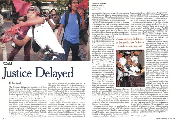 Article Preview: Justice Delayed, September 11,2000 2000 | Maclean's