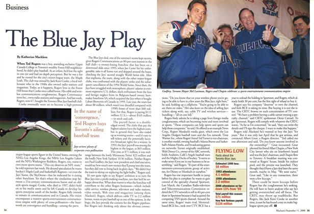 Article Preview: The Blue Jay Play, September 11,2000 2000 | Maclean's