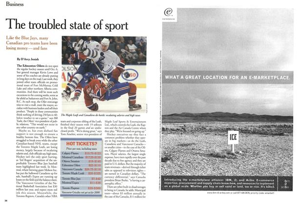 Article Preview: The troubled state of sport, September 11,2000 2000 | Maclean's