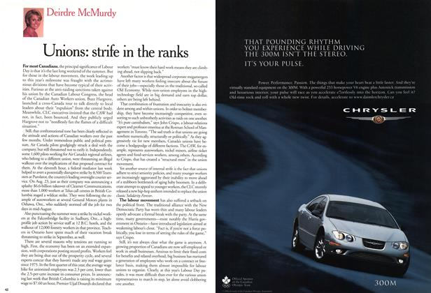 Article Preview: Unions: strife in the ranks, September 11,2000 2000 | Maclean's