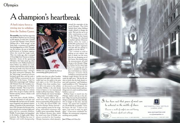 Article Preview: A champion's heartbreak, September 11,2000 2000 | Maclean's