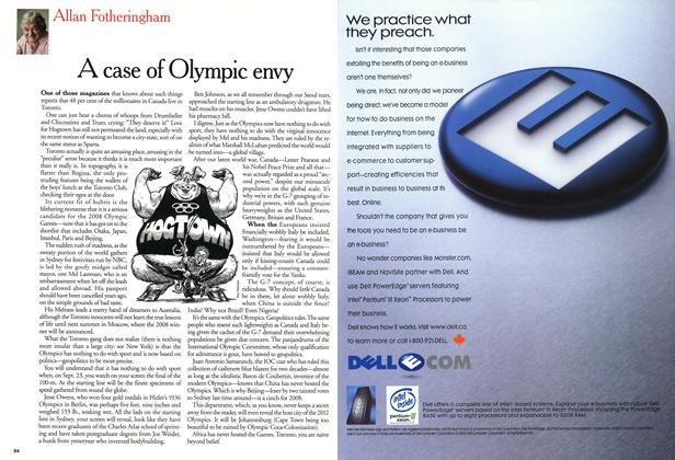 Article Preview: A case of Olympic envy, September 11,2000 2000 | Maclean's