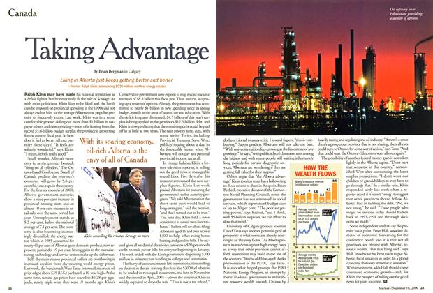 Article Preview: Taking Advantage, September 2000 | Maclean's