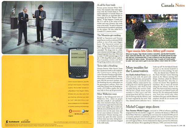 Article Preview: Canada Notes, September 2000 | Maclean's