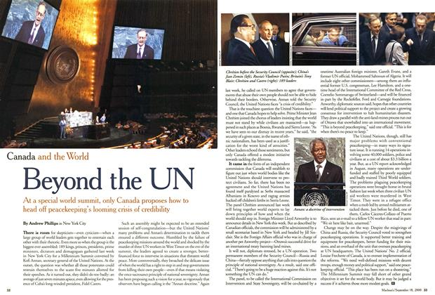 Article Preview: Beyond the UN, September 2000 | Maclean's