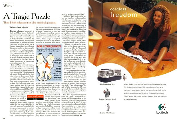 Article Preview: A Tragic Puzzle, September 2000   Maclean's