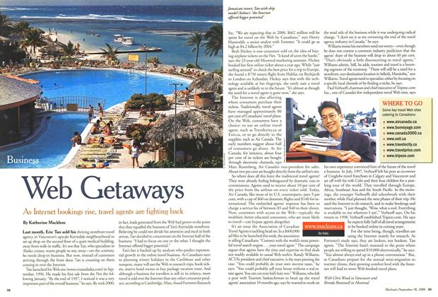 Article Preview: Web Getaways, September 2000 | Maclean's