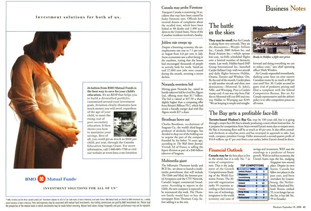 Article Preview: Business Notes, September 2000 | Maclean's