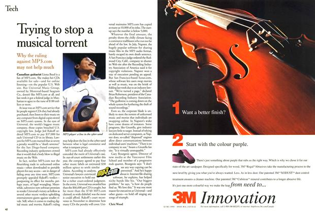 Article Preview: Trying to stop a musical torrent, September 2000 | Maclean's