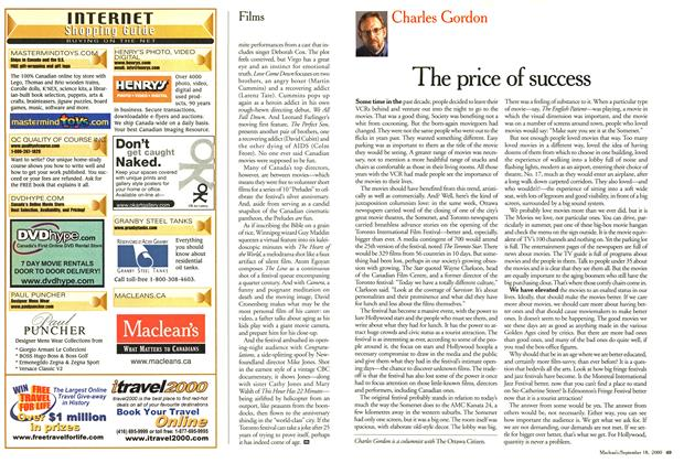 Article Preview: The price of success, September 2000 | Maclean's