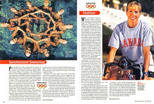 Article Preview: Synchronized Swimming, September 2000 | Maclean's
