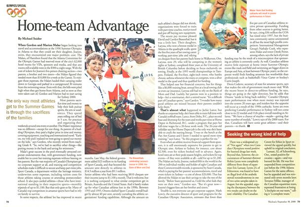Article Preview: Home-team Advantage, September 2000 | Maclean's