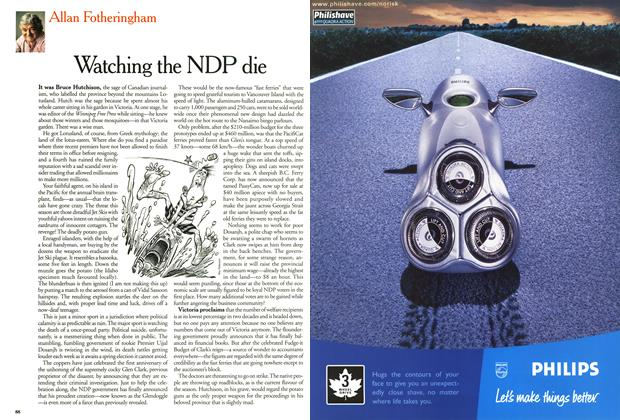 Article Preview: Watching the NDP die, September 2000 | Maclean's