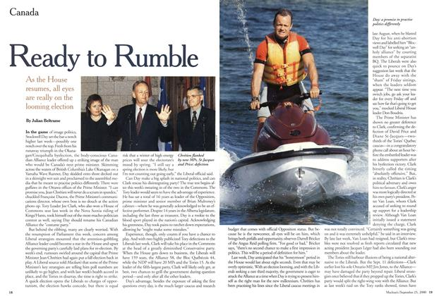 Article Preview: Ready to Rumble, September 2000 | Maclean's