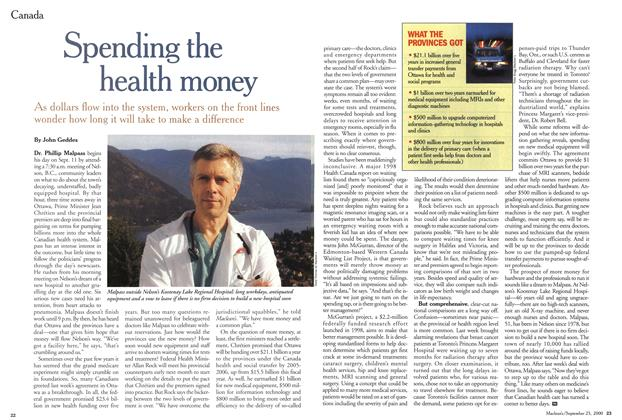 Article Preview: Spending the health money, September 2000 | Maclean's