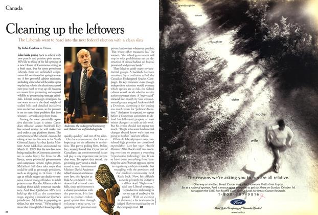 Article Preview: Cleaning up the leftovers, September 2000 | Maclean's