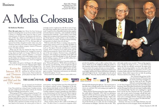 Article Preview: A Media Colossus, September 2000 | Maclean's