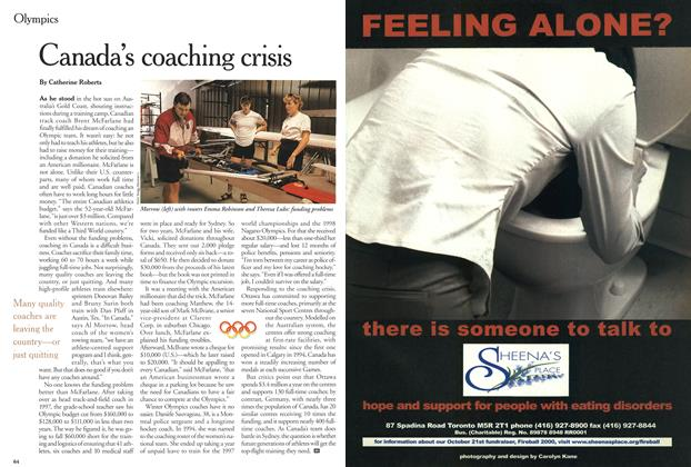 Article Preview: Canada's coaching crisis, September 2000 | Maclean's