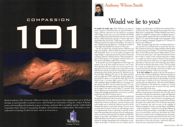 Article Preview: Would we lie to you?, October 2000 | Maclean's
