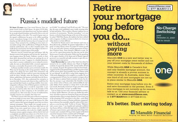Article Preview: Russia's muddled future, October 2000 | Maclean's