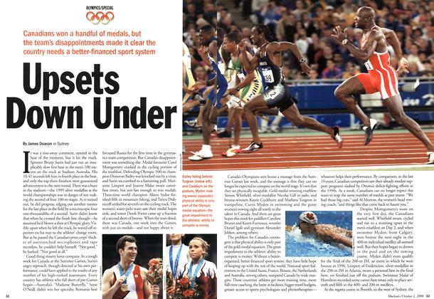 Article Preview: Upsets Down Under, October 2000 | Maclean's