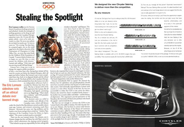 Article Preview: Stealing the Spotlight, October 2000 | Maclean's