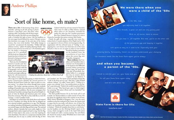 Article Preview: Sort of like home, eh mate?, October 2000 | Maclean's