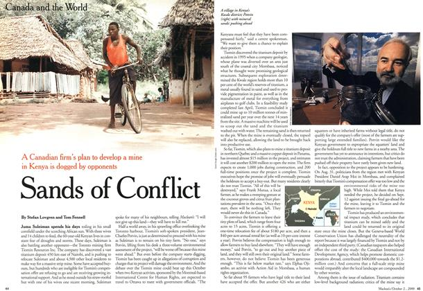 Article Preview: Sands of Conflict, October 2000 | Maclean's