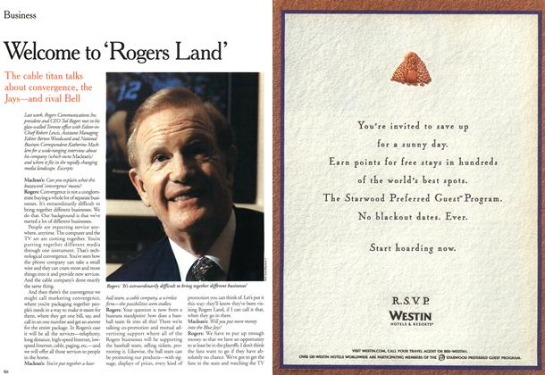 Article Preview: Welcome 'Rogers Land', October 2000 | Maclean's