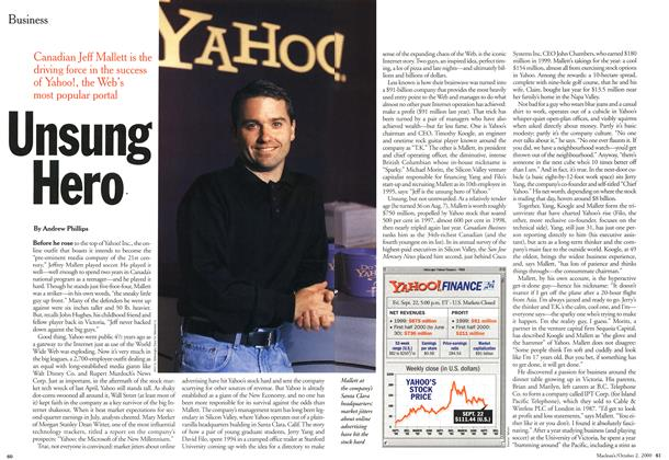 Article Preview: Unsung Hero, October 2000 | Maclean's