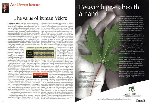 Article Preview: The value of human Velcro, October 2000 | Maclean's