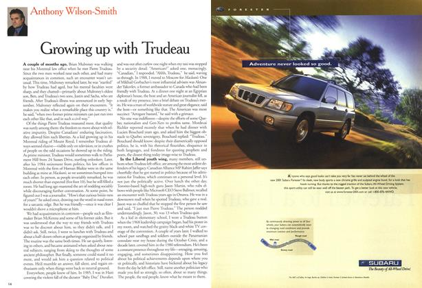 Article Preview: Growing up with Trudeau, October 2000 | Maclean's