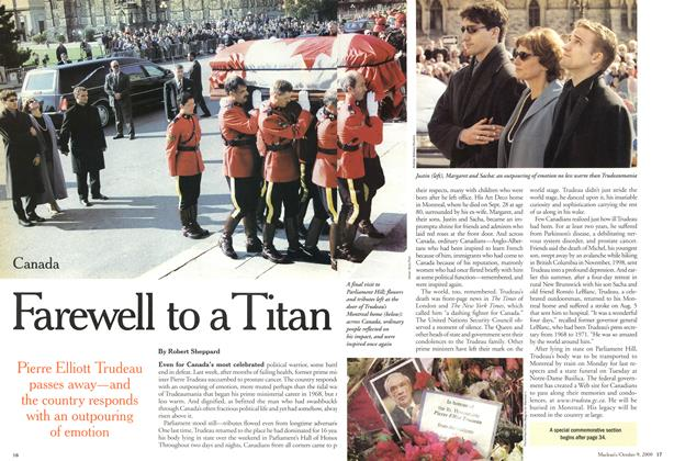Article Preview: Farewell to a Titan, October 2000 | Maclean's