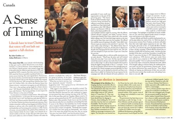 Article Preview: A Sense of Timing, October 2000 | Maclean's