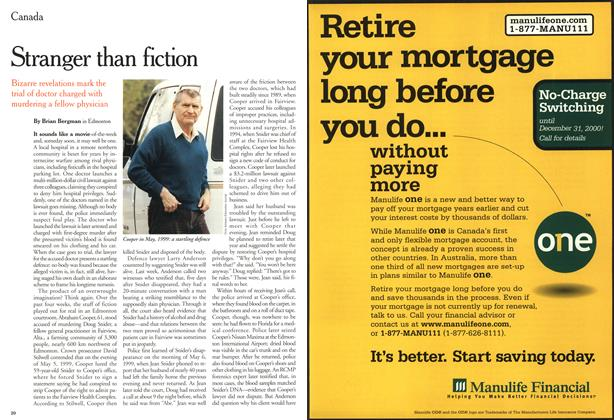 Article Preview: Stranger than fiction, October 2000 | Maclean's