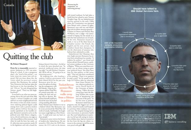 Article Preview: Quitting the club, October 2000 | Maclean's