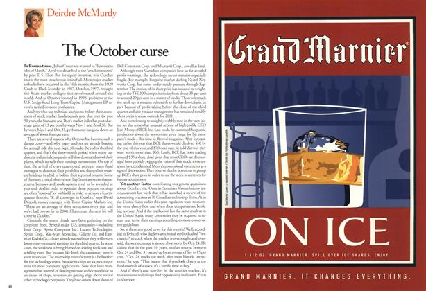 Article Preview: The October curse, October 2000 | Maclean's