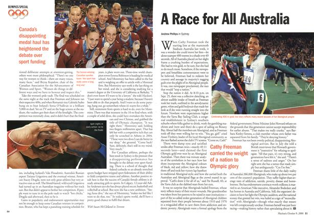 Article Preview: A Race for All Australia, October 2000 | Maclean's